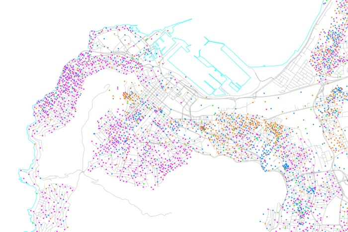 Where have all the people gone? Adrian Frith's map show the low density levels of Cape Town's CBD