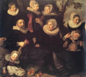 Frans Hals, Family Portrait in a Landscape