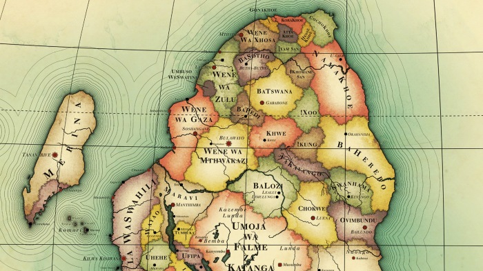 Africa before European arrival: Swedish artist Nikolaj Cyon used historical sources to draw a map of Africa without European settlement or colonialism