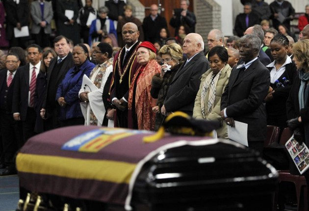 Dignitaries at the funeral of Prof Russel Botman. Photo: Denvor de Wee / City Press