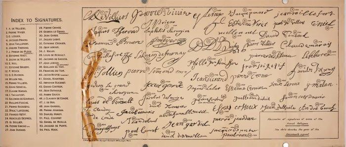 SignaturesFrenchHuguenots