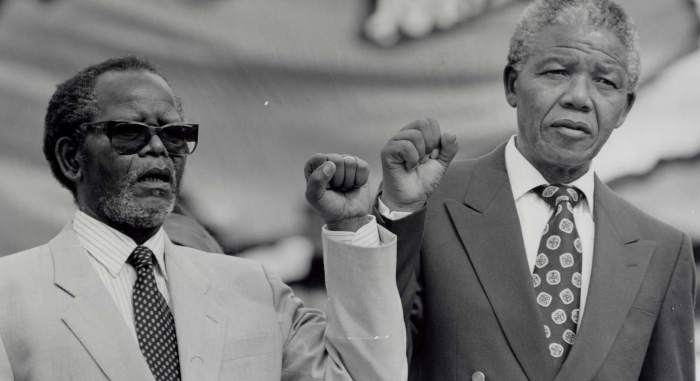 Two former graduates of the University of Fort Hare: Oliver Tambo and Nelson Mandela