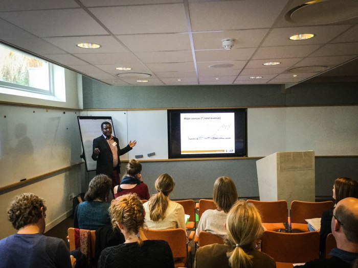 Stellenbosch PhD student Abel Gwaindepi presenting his research at last year's AEHN meetings