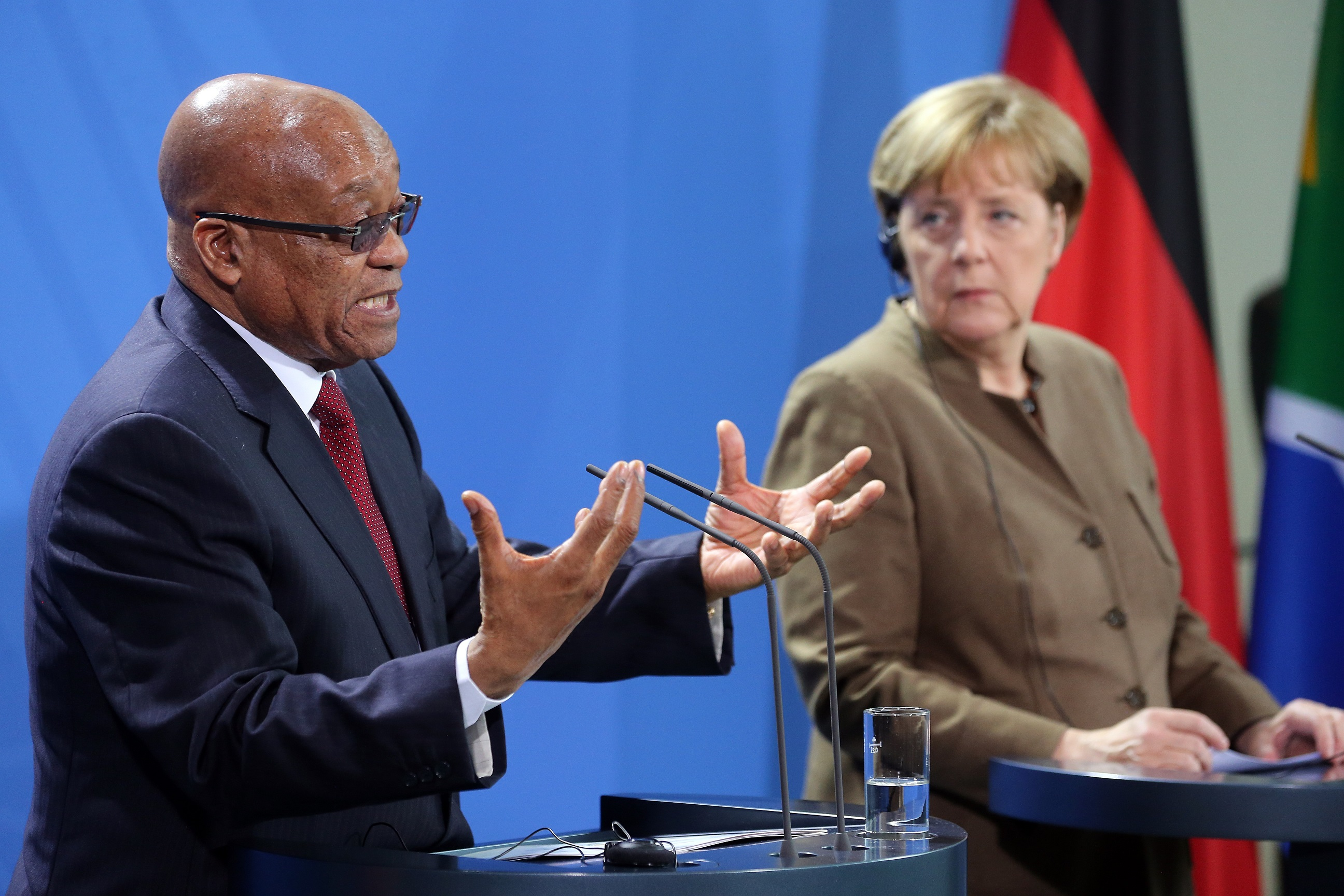 South African President Jacob Zuma visit Berlin